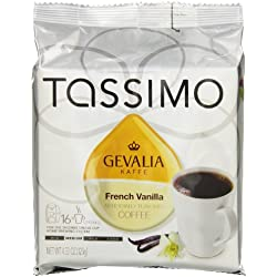 Gevalia French Vanilla Flavored Coffee, T-Discs for Tassimo Brewing Systems, 16 Count