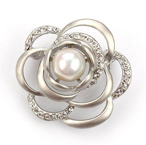 Design - 8 Women Vintage Pearl Rhinestone Crystal Flower Wedding Bridal Bouquet Brooch Pin - Design Pin Brooch