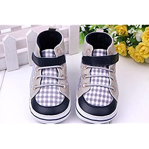 881883522 Sabe Infant Baby Boys Girls Canvas Crib Shoes Rubber Sole Non-slip First  Walkers Prewalker