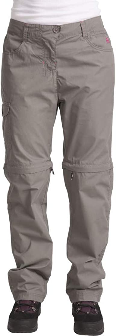 Trespass Womens//Ladies Rambler Polycotton Zip Off Convertible Trousers