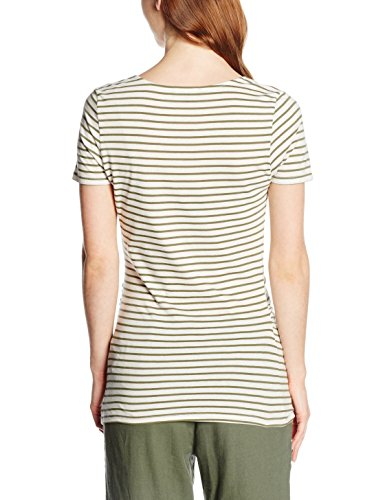 New Look Maternity Stripe Voop, Camisa para Mujer Green (Green Patterned)