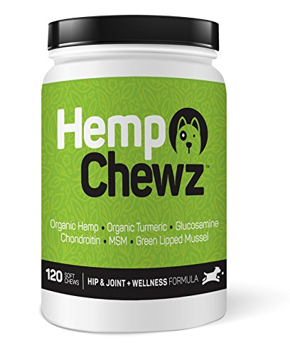 Green Dog Naturals Healthy (Hemp Chewz | Best Hip & Joint Formula for Dogs - Veterinarian Recommended - Organic Hemp & Turmeric, Glucosamine, Chondroitin, MSM + Green Lipped Mussels Promote a Natural, Pain-Free Lifestyle)