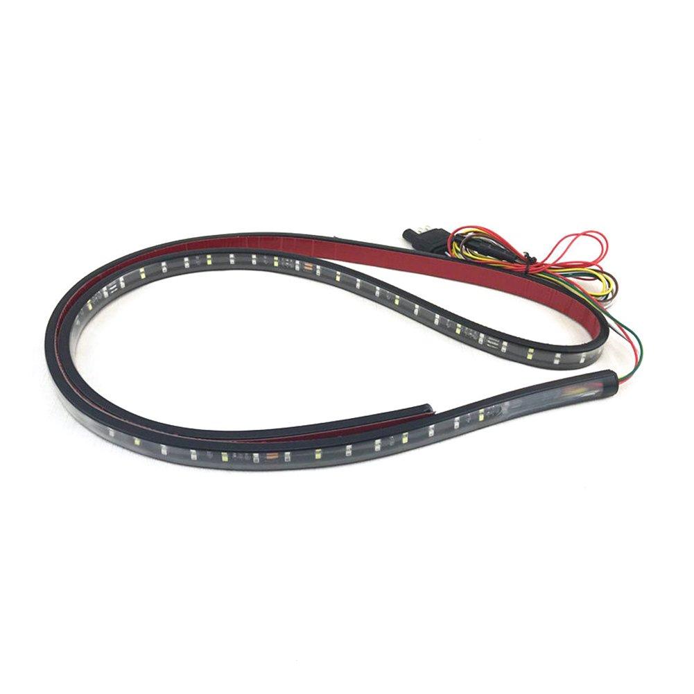 LED Tailgate Light Bar Running/Brake/Reverse/Rear Waterproof Red&White Tail Light Strip for Pickup,Car,Truck (60 inch)