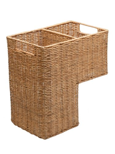 KOUBOO Wicker Step Basket, Natural (Rattan Step Basket)