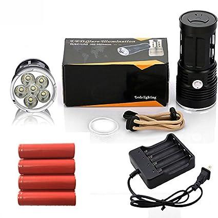 Amazon.com: 5, Oro : Zk30 linterna mi-5 10000 lúmenes campamento Caza antorcha 5X cree xm-l T6 Lanterna táctica adecuada 4x18650: Home & Kitchen
