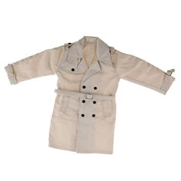 1//6 Scale White Long Jacket Overcoat for 12/'/' Hot Toys Enterbay Male Figure