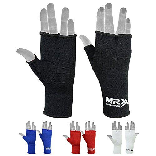 MRX Muay Thai Boxing Inner Gloves Protective Hand Wrap (Black, Medium)