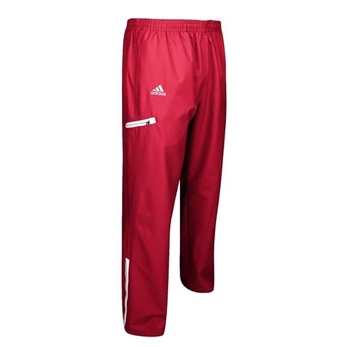719433726 adidas Mens Team Sports Woven Pant, Power Red/White, Medium