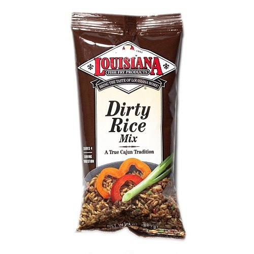Louisiana Fish Fry Company Dirty Rice Dinner Mix, 8 Ounces (Pack of 3)