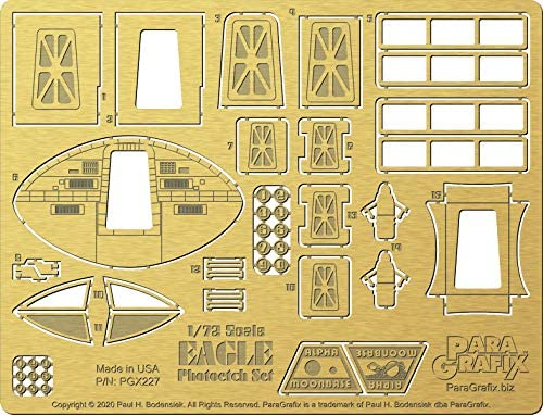 Space 1999 Photoetch Set for MPC913 1//72 Scale Eagle Transporter kit PGX227