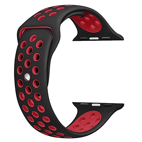 Sport Band For Apple Watch 42mm 38mm,Soft Silicone Strap Replacement Wristbands For Apple Watch Sport Series 3 Series 2 Series 1 …