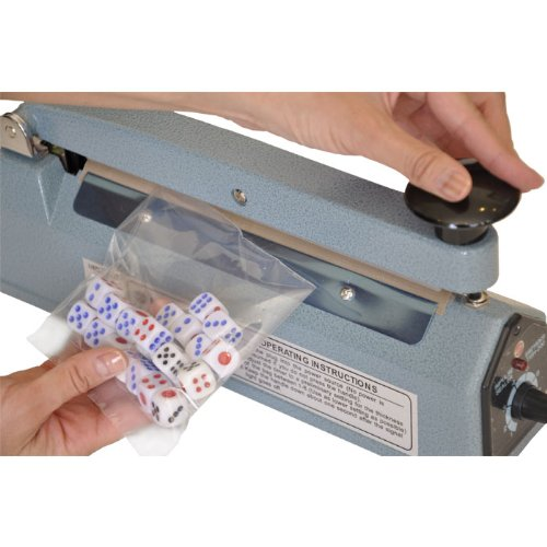 Sealer Sales KF-200HRND Blue 8 Impulse Hand Sealer with Round Sealing Cutting Wire