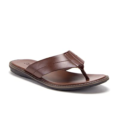 2b198b27662 Amazon.com | Men's 68733 Comfort Step Slip On Leather Slides Sandals ...