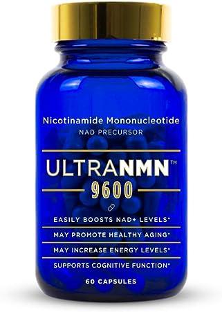 Ultra NMN 9600 Advanced Formula Nicotinamide Mononucleotide NAD+ Supplement, Vitamin B3 Family, 320 mg per Serving - NAD+ Precursor – May Help Promote DNA Repair, Boost Energy, Longevity - 60 Capsules