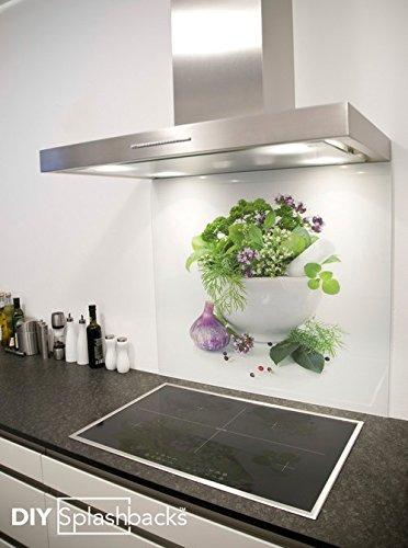 Salpicadero de vidrio hierbas 90cm x 75cm: Amazon.es: Hogar