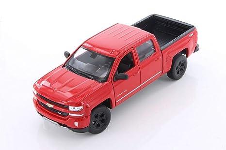 Red Chevy Silverado >> Amazon Com Welly 2017 Chevy Silverado Red 24083 4d 1 24