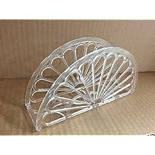 "7"" Napkin Holder - Fan Design 12 Pieces / Clear"