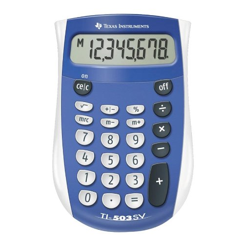 Texas Instruments : TI-503SV Handheld Calculator, Eight-Digit LCD -:- Sold as 2 Packs of - 1 - / - Total of 2 Each