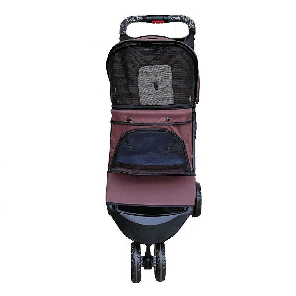 TYT Pet Travel out Light Stroller 3 Rounds Pet Cat Dog Baby Stroller, Puppy Car, Shockproof, Load 15kg with Shockproof, Large Storage Basket 2 Exit