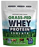 Small Size Grass Fed Whey Isolate - Pure Unflavored Protein Powder Without Sweeteners or Flavorings. Won't Change The Taste of Your Shake, Smoothie, Drink, or Food - Non GMO and No Gluten - 4.2 ounces