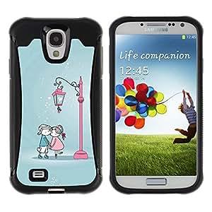 Suave TPU GEL Carcasa Funda Silicona Blando Estuche Caso de protección (para) Samsung Galaxy S4 IV I9500 / CECELL Phone case / / Cute Kiss Me Couple /