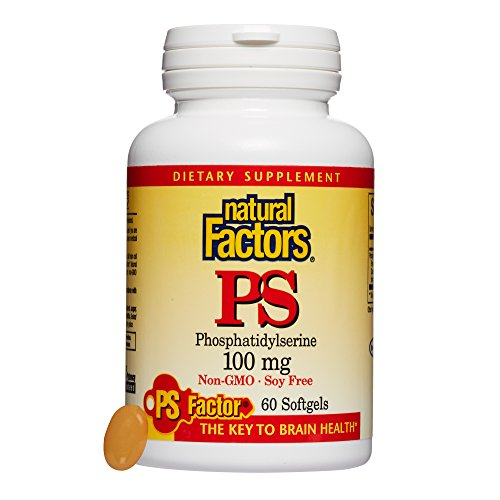 - Natural Factors, PhosphatidylSerine (PS) 100 mg, Supports Healthy Brain Function with Non-GMO Sunflower Lecithin, 60 softgels (60 servings)