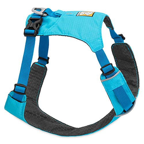 RUFFWEAR Lightweight Dog Harness, Small Breeds, Adjustable Fit, Size: Small, Blue Atoll, Hi & Light Harness, 3082-409S ()