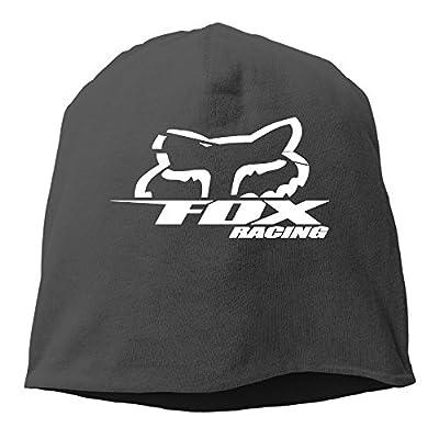 YUVIA Fox Racing Logo Men's&Women's Patch Beanie HikingBlack Cap For Autumn And Winter