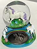 Miniature 2 Inch Unicorn and Rainbow Snow Globe Glitterdome