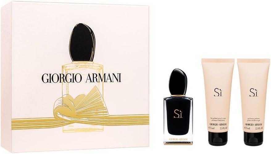 Giorgio Armani Si Intense Gift Set 50ml EDP + 75ml Shower Gel + 75ml Body Lotion: Amazon.es: Belleza