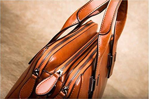Moda Willsego Marrón De Tamaño color Marrón 35x26x13cm Bolso Bolsos Cuero qRRtrvS