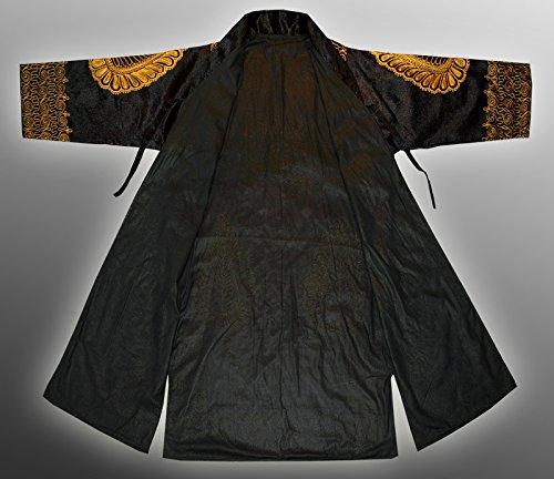 STUNNING UZBEK SILK GOLD EMBROIDERED ROBE CHAPAN FROM BUKHARA V1814