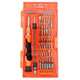 Precision Screwdriver set,HokoAcc Hand Tools Magnetic Drive Kit, 58 in 1 with 54 Bit Smart Phone Repair Tool with Orange Box