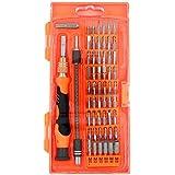 Precision Screwdriver set,HokoAcc Hand Tools Magnetic Drive Kit, 58 in 1 with 54 Bit Smart Phone Repair Tool with Orange Box