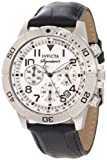 invicta white dial men - Invicta Men's 7283 Signature Chronograph Silver Dial Black Leather Watch