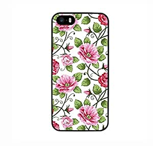 FUNDA CARCASA PARA Apple iPhone SE ESTAMPADO FLORES ROSAS MOD.2