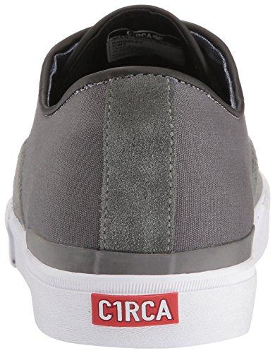 C1RCA Männer Kingsley Niedriger dauerhafter gepolsterter Einlegesohlen-Skate-Skateboardschuh Holzkohle / Weiß