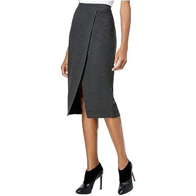 Kensie Women's Faux-Wrap Ponte Pencil Skirt