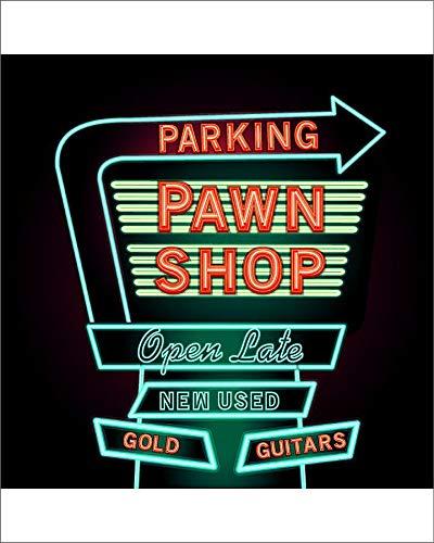 Media Storehouse 10x8 Print of Retro Pawn Shop neon Sign (18114233)