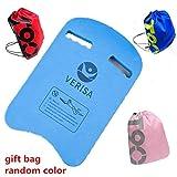 VERISA Kids & Adults Swimming Kickboard Swim Pool Float Floating Buoy Hand Board Tool Foam with Drawstring Backpack Sport Bag (U Shape)
