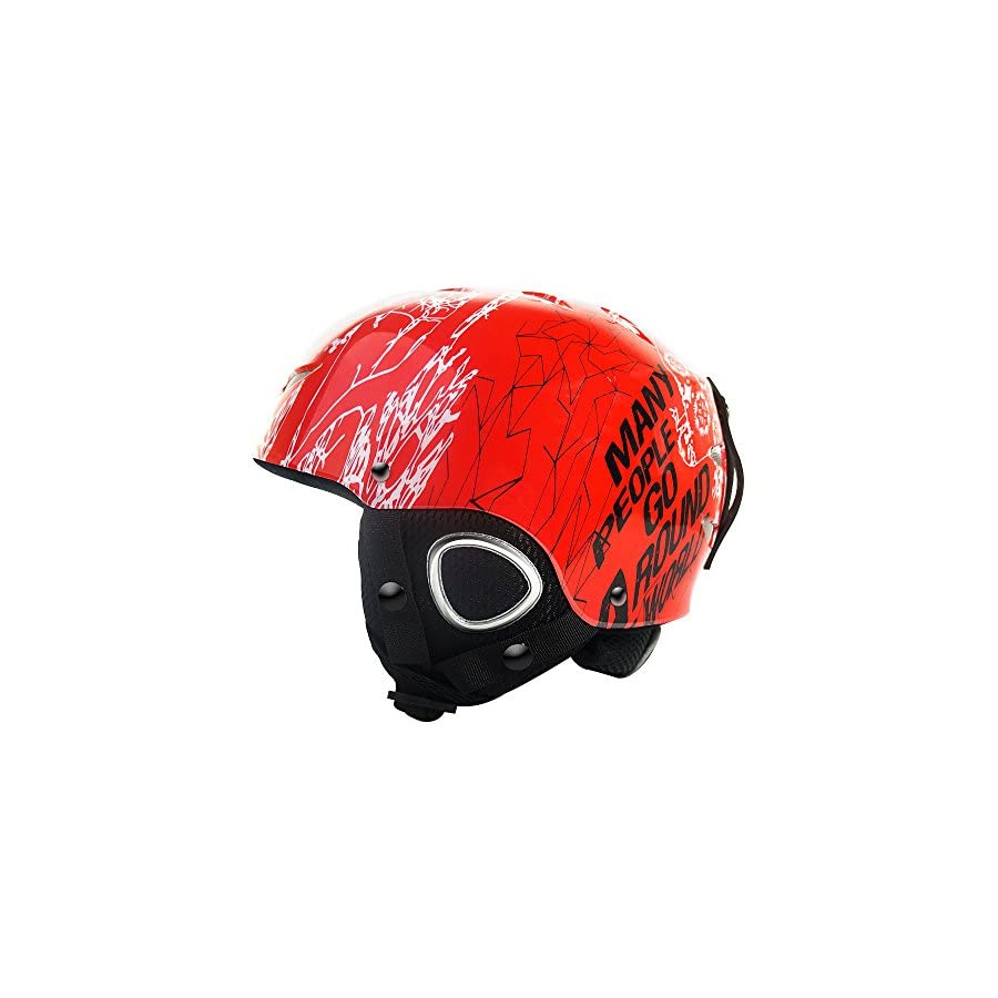ZIONOR Lagopus Stylish Doddle Unisex Snow Sport, Ski, Skidding, Riding, Skateboarding Helmet with Adjustable Venting System, PC & EPS Material for Kid Youth Boys Girls