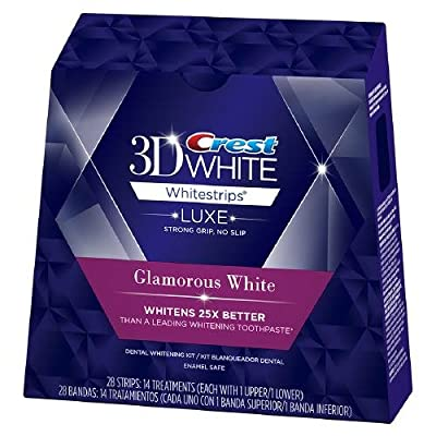 Crest 3D White Luxe Whitestrips Glamorous White - Teeth Whitening Kit--14 ea