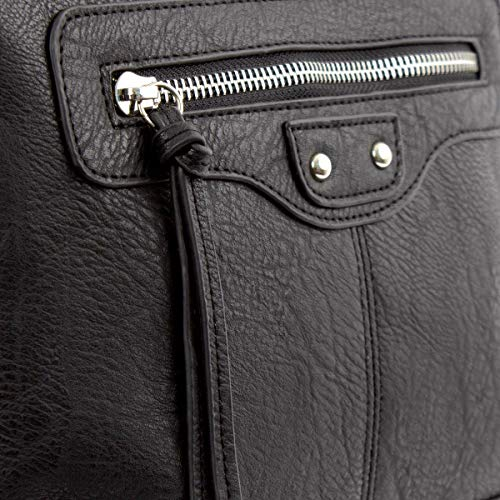 Handbag Black Black Detail Zip Zone OtZwdt