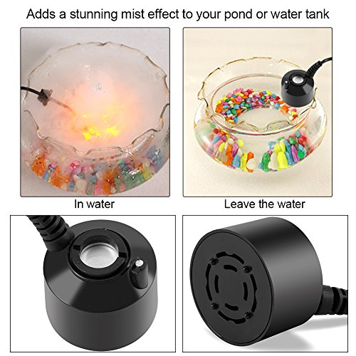 - Mini Mist Maker Water Fountain Pond Fish Tank Creating Atmosphere for Garden Office Home Room Car