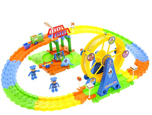 - PowerTRC Adventure Park Train Set - 72 Pieces -