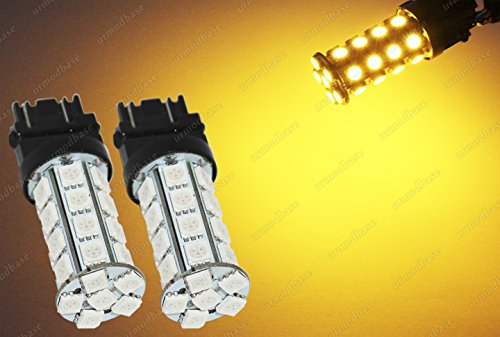 urmodbase T25 3157 P27/7W LED SMD Amber Yellow Orange Turn Signal Front Rear Side Repeater Indicator Bulbs Lights Lamp 12V: