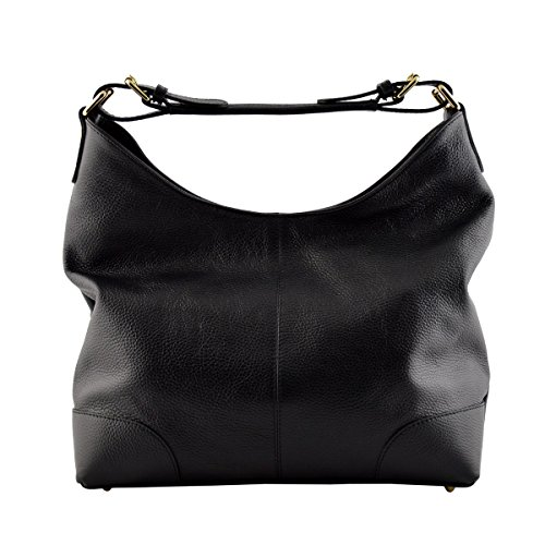 In Bag Bag Genuine Color Woman Leather Leather Black Made Shoulder Tuscan Italy 6xqHdwZ4W4