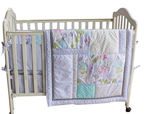 Baby Girls Dream Butterflly 8pcs Crib Cot Bedding Set