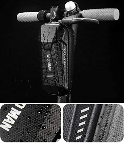 WILD MAN Hard Shell Waterproof Scooter Storage Bag for Kick Scooters Folding Bike