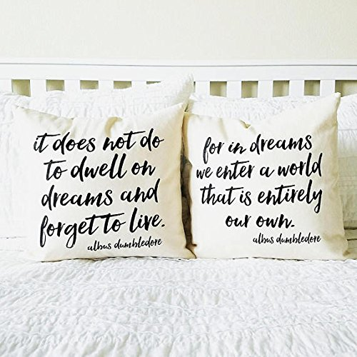 Costume Drama Tv List (Dreams Quotes Pillow Set, Home Decor, Gift for Her, Gift for Him, Book Lover Gift, Cushion Cover, Wizard, Couple Pillowcases, Wedding Gift)